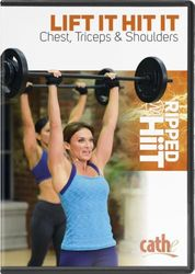 cathe Friedrich Lift It Hit It Chest Triceps Shoulders DVD Ripped with HiiT
