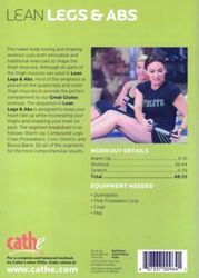 cathe Friedrich Lean Legs And Abs DVD lower body shaping workout
