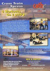 cathe Friedrich Cross Train Xpress 2 DVD Set Step Interval Legs Kickbox