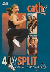cathe Friedrich 4 Day Split Cardio & Weights 2-DVD-Set Step Workout
