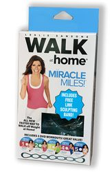 Leslie Sansone Walk at home Miracle Miles 5-DVD-Set + Chain Link Band