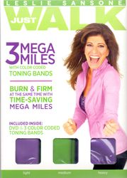 Leslie Sansone Just Walk 3 Mega Miles DVD plus 3 Toning Bänder