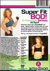 amy dixon Super Fit Bod interval training DVD strength cardio conditioning