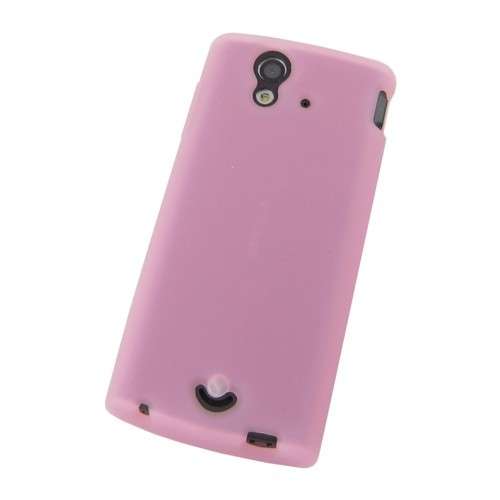 Silikon-Case / Hülle zu Sony Ericsson Xperia ray / ST18i - Pink
