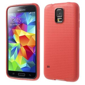 TPU-Case Handy-Hülle zu Samsung Galaxy S5 / GT-I9600 - GRID Rot
