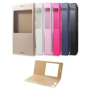Flip Case Handy-Hülle mit Fenster #M50 Einfarbig zu Sony Xperia XZ1