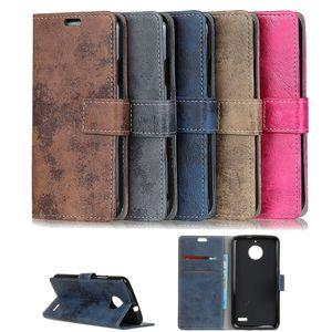 Flip Case Handy-Hülle BOOK #M36 VINTAGE STYLE zu Motorola Moto E4/Plus