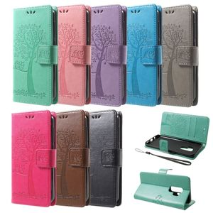Flip Case Handy-Hülle BOOK #M58 BAUM zu Samsung Galaxy S9/Plus