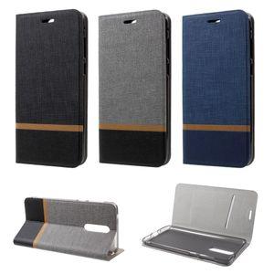 Flip Case Handy-Hülle BOOK #M33 WEBSTOFF-OPTIK zu Nokia 8