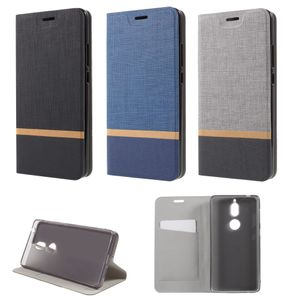 Flip Case Handy-Hülle BOOK #M33 WEBSTOFF-OPTIK zu Nokia 7/Plus