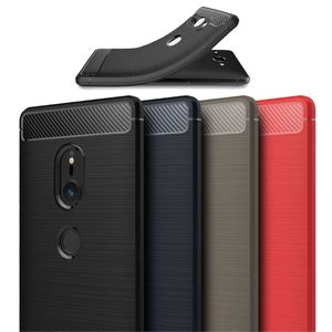 TPU-Case Schutz-Hülle Carbon-Look/Brushed #T55 zu Sony Xperia XZ2/Compact