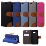 Flip Case Handy-Hülle Book #M64 Jeans zu Samsung Galaxy A-Serie