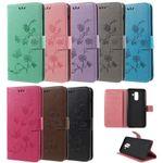 Flip Case Handy-Hülle #S26 Falter/Blumen zu Samsung A-Serie