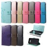 Flip Case Handy-Hülle Book #S16 Schmetterlinge zu Samsung Galaxy A-Serie