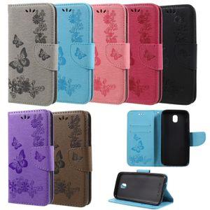 Flip Case Handy-Hülle Book #S28 Schmetterlinge zu Samsung Galaxy J3 / J3 2016 / J3 2017 / J5 2017