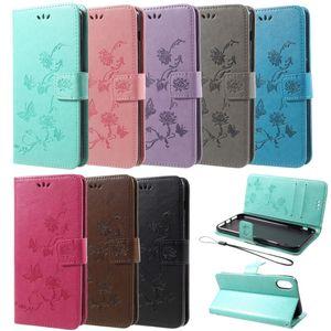 Flip Case Handy-Hülle Book #S26 Schmetterlinge/Blumen zu Apple iPhone