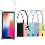 Handy Hülle mit Band zum Umhängen zu Apple iPhone Xr