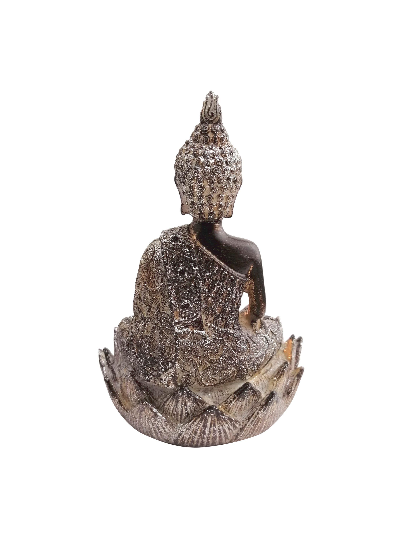 Deko Teelicht Buddha Figur klein 20x20cm Braun