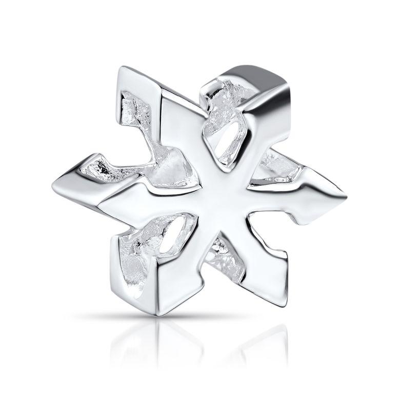 MATERIA 925 Silber Beads Stern Anhänger Chaosstern für European Beads Armband / Kette #1197