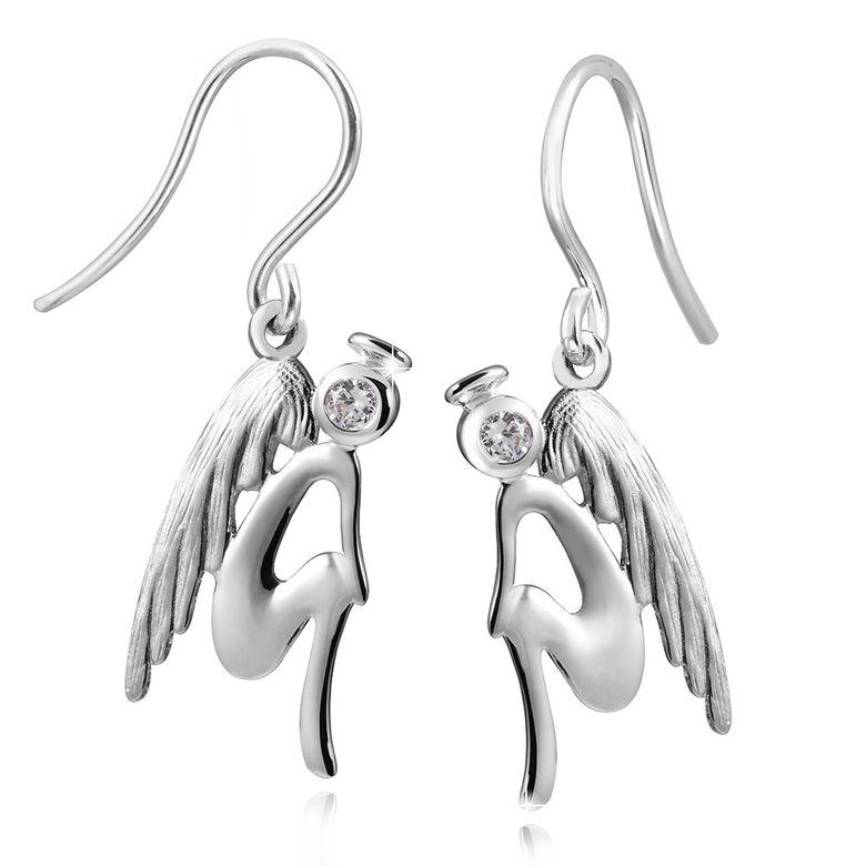 MATERIA 925 Silber Zirkonia Ohrhänger Engel mit Flügeln / Engelsflügel inkl. Box - deutsche Fertigung #SO-205