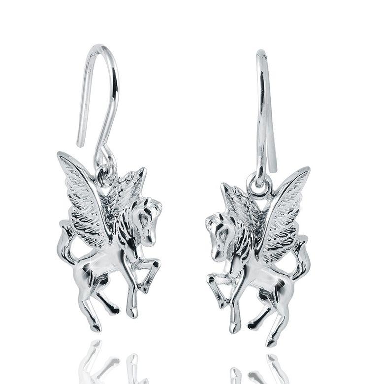 MATERIA 925 Silber Ohrhänger Pegasus - Damen Ohrringe Pferd mit Flügeln rhodiniert inkl. Box #SO-206