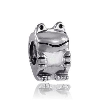 MATERIA Sterling Silber Beads Frosch Element antik