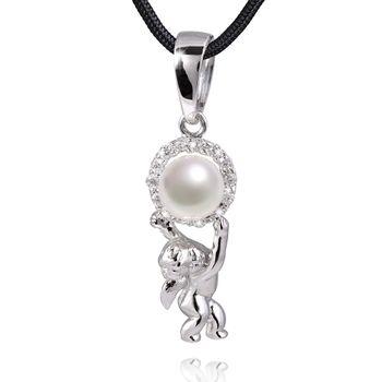 MATERIA Perlen Anhänger ANGIOLETTO Silber Zirkonia