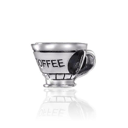 MATERIA 925 Silber Beads Kaffeetasse - Silber Anhänger antik für Beads Armband oder Kette #870