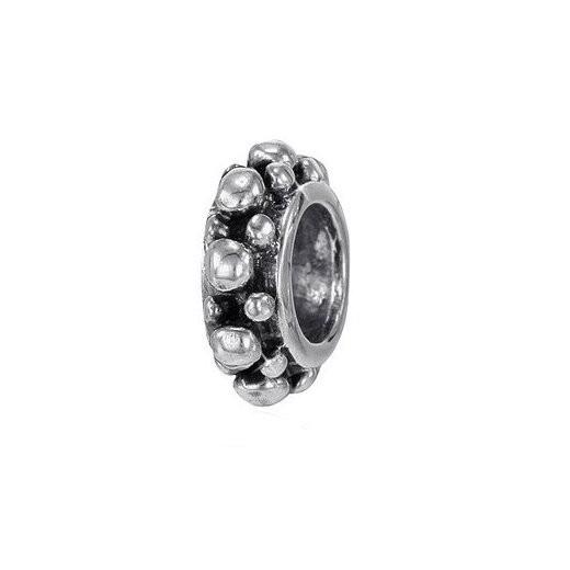 MATERIA 925 Silber Beads Spacer Noppen - Antik Silber Zwischenelement für Beads Armband #885