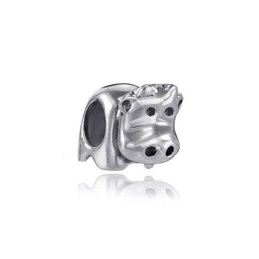 MATERIA 925 Silber Beads Anhänger Kuh antik für European Beads Armband / Kette #888