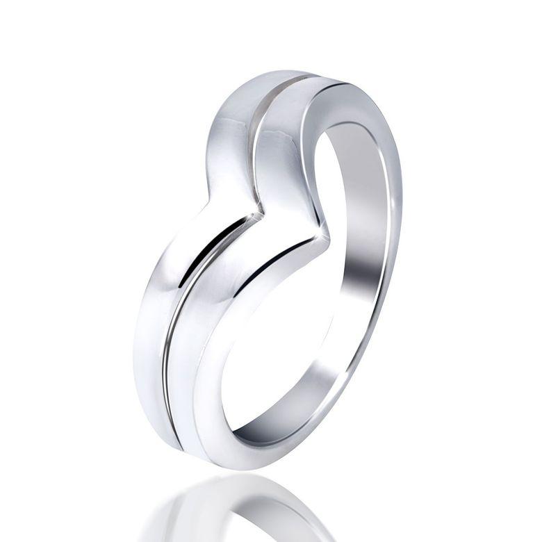 MATERIA 925 Sterling Silber Ring ARROW modern  - Silberring Damen hochglanzpoliert inkl. Schmuckbox #SR-72