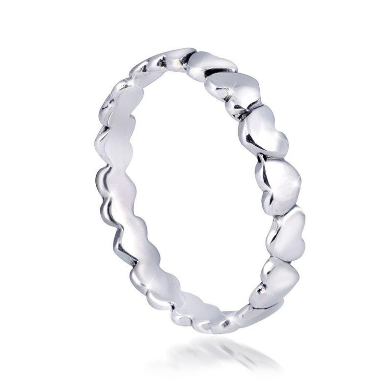 MATERIA Herz Ring Silber 925 - Silberring dünn Liebe Schmuck für Damen Mädchen Gr. 51 54 57 58 60 62 in Etui SR-74