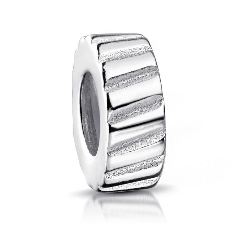 MATERIA Beads Clip Stopper 925 Silber rhodiniert - Charms Anhänger mit Gummiring für Armband oder Kette 460