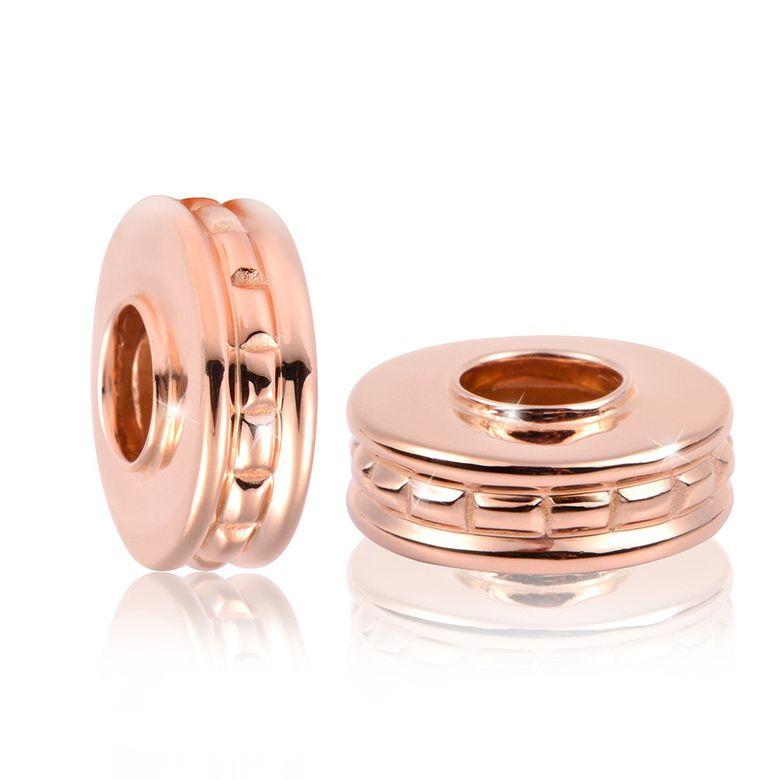 MATERIA PREMIUM Rosegold Beads Silber 925 - Gold Anhänger ausgefallen für Bead Armband + Box #1673