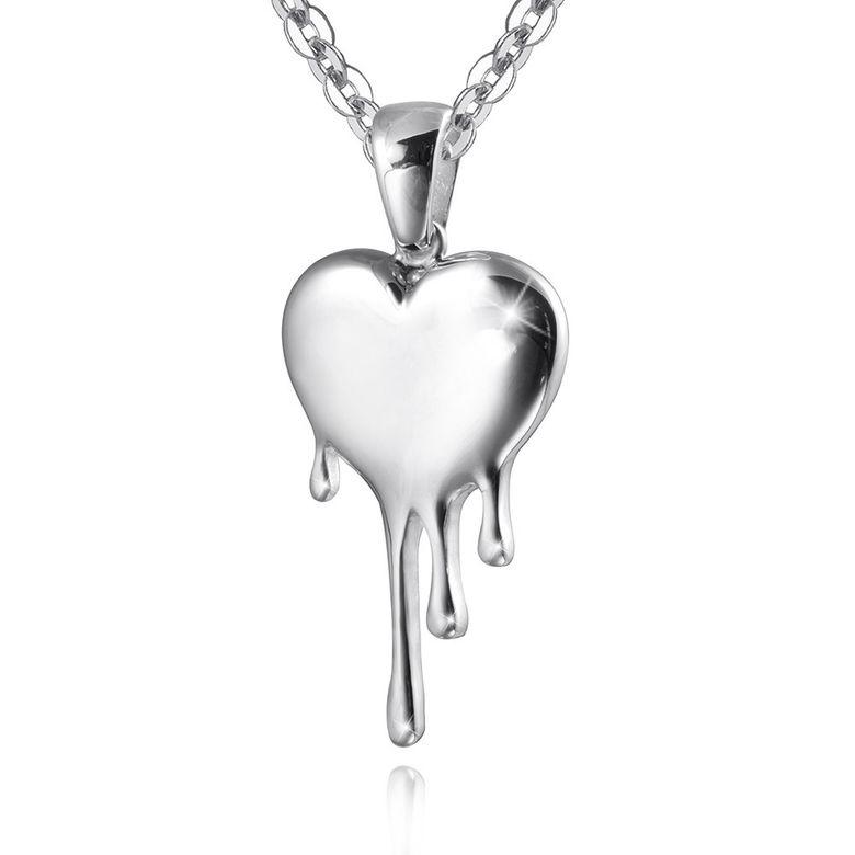 MATERIA Tränendes Herz Anhänger Silber 925 LIANA - Damen Kettenanhänger Liebe Partnerschaft inkl. Box #KA-330