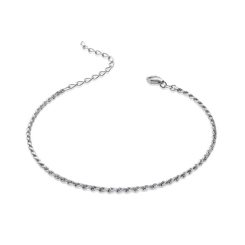 MATERIA Damen Armband 925 Sterling Silber Kordelkette 1,2mm rhodiniert 18-23cm verstellbar + Box #SA-27