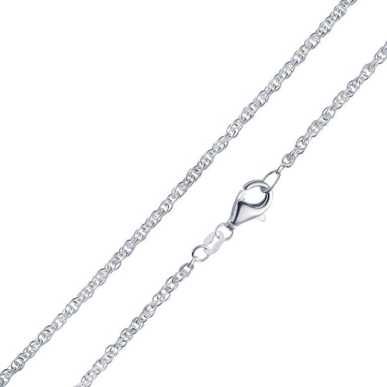 MATERIA Doppel Ankerkette Silber 925 rhodiniert 2mm Damen Halskette Silber 5,0g in 40 - 70cm #K58