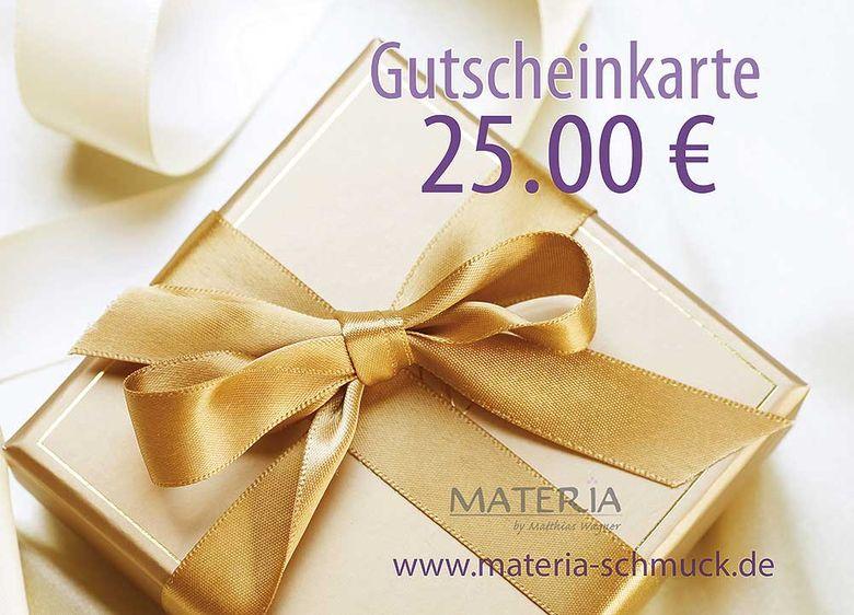 25 EUR Geschenkgutschein von MATERIA Schmuck
