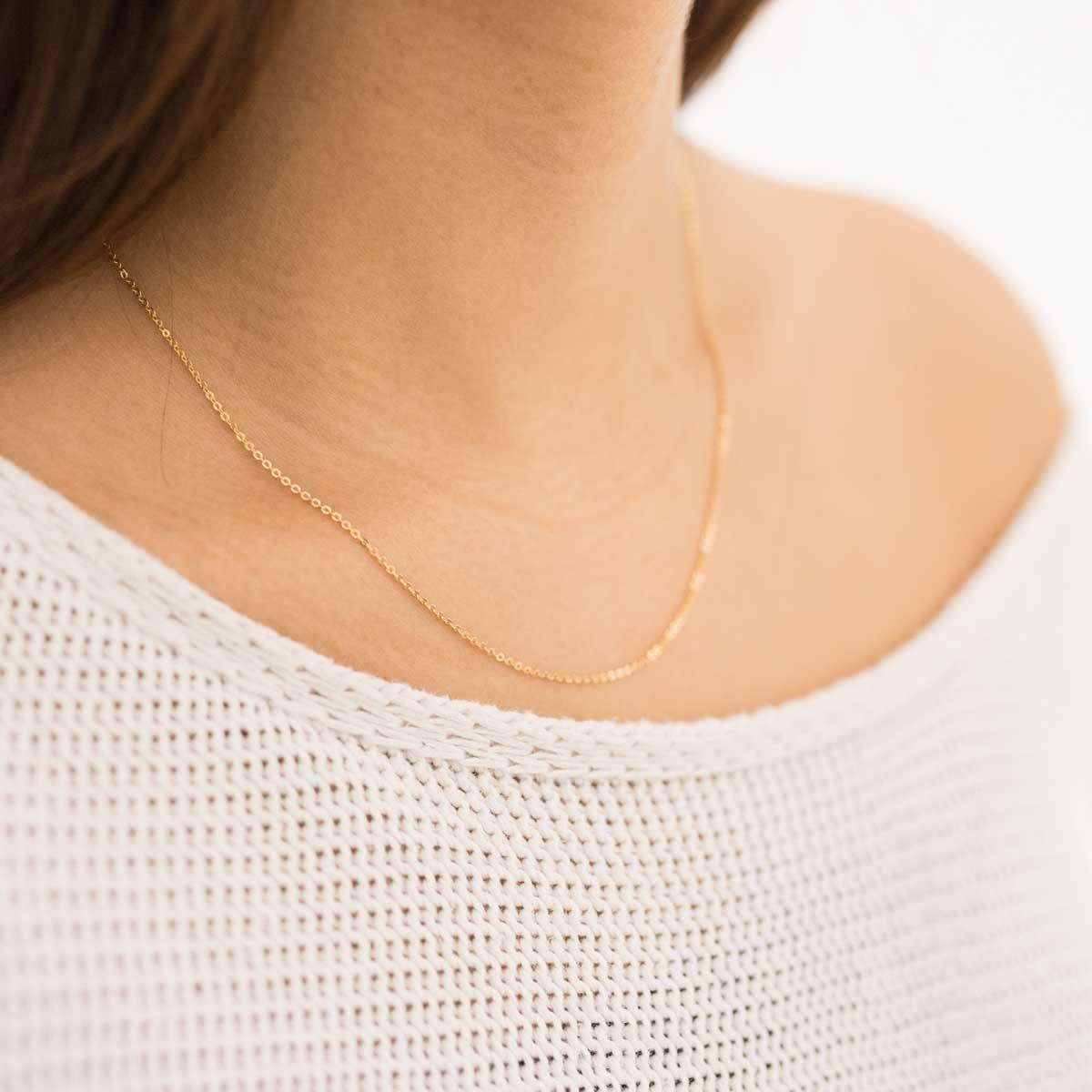 10 Halsketten vergoldet 40 cm x 1 mm