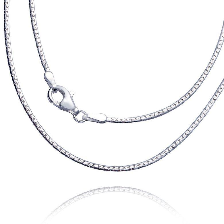 MATERIA Ankerkette Silber 925 oval gedrückt 1,7mm Damen Halskette Silber + Box #K40