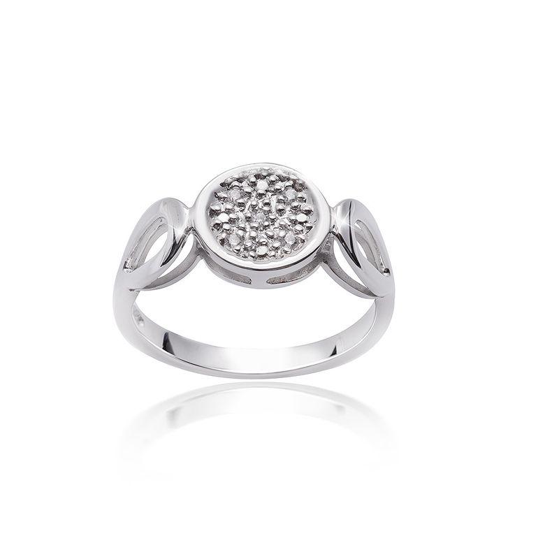 MATERIA Damen Ring Solitär rund 925 Silber Zirkonia weiß rhodiniert mit Ringbox #SR-97