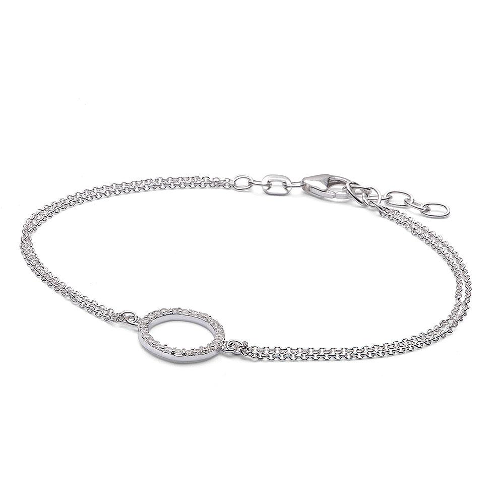 materia zirkonia armband ring 925 silber ankerkette rhodiniert. Black Bedroom Furniture Sets. Home Design Ideas