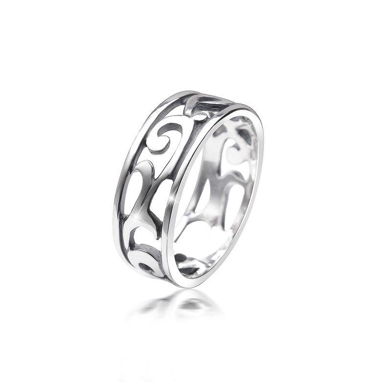 MATERIA Damen Ring keltisch 925 Sterling Silber antik breit deutsche Fertigung #SR-108