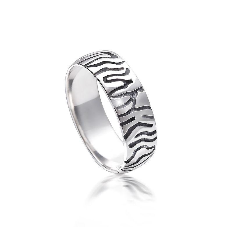 MATERIA Damen Ring Zebra 925 Sterling Silber afrikanisch antik bicolor deutsche Fertigung #SR-115