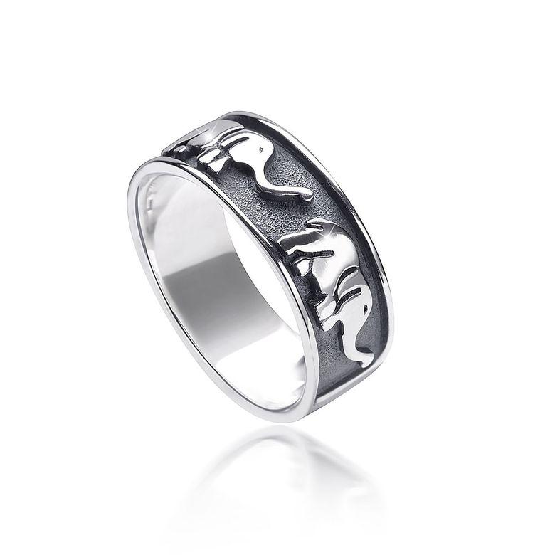 MATERIA Herren Damen Ring Elefant Tier 925 Silber antik afrikanisch 7mm deutsche Fertigung #SR-117