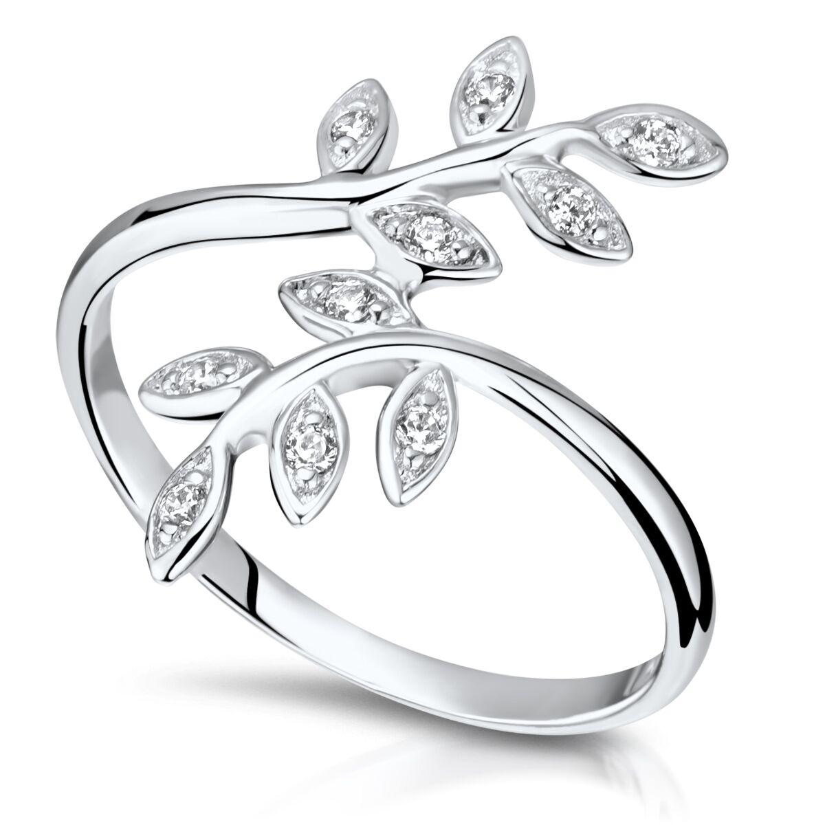Blätter Ringe 925 Silber Versilbert Ringe Damen Modisch verstellbar  Lorbeer