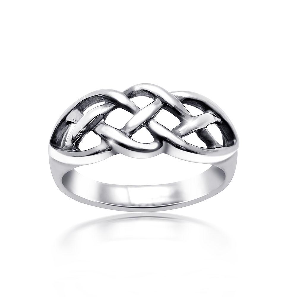 MATERIA Damen Ring Knoten 925 Sterling Silber keltisch antik ...