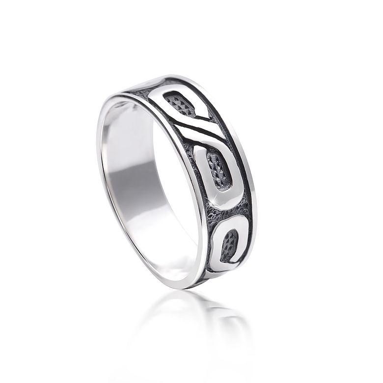 MATERIA Damen Herren Ring unendlich 925 Silber antik rhodiniert mit Box / deutsche Fertigung #SR-131