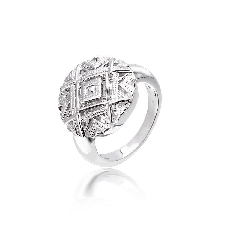 MATERIA Damen Ring 925 Silber afrikanisch rund rhodiniert inklusive Schmuckbox Gr. 51-62 #SR-155