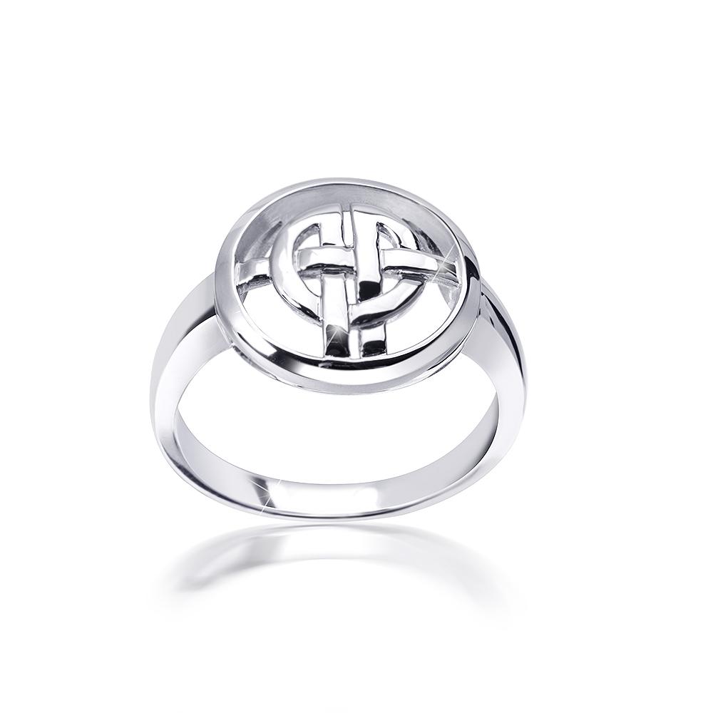 MATERIA Damen Ring keltischer Knoten 925 Silber rund rhodiniert